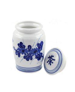 Chinese thee bewaarpot van porselein